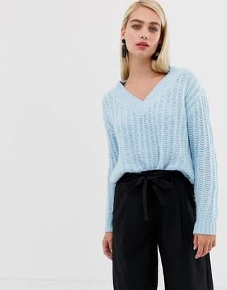 Vero Moda Chunky Knit V Neck Sweater