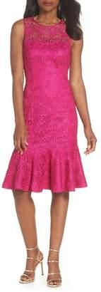 Eliza J Sleeveless Lace Sheath Dress