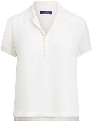 Polo Ralph Lauren Silk Polo Shirt $165 thestylecure.com