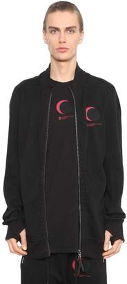 11 By Boris Bidjan Saberi Printed Cotton Jersey Zip-Up Sweatshirt