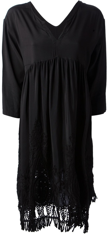 Zucca embroidered loose fit dress