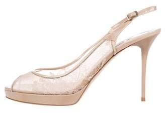 Jimmy Choo Lace Slingback High-Heel Sandals
