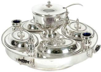One Kings Lane Vintage English Silver-Plate Lazy Susan - 19 Pcs - La Maison Supreme