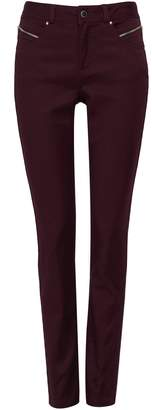 Wallis Berry Front Zip Jegging
