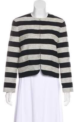 Alice + Olivia Striped Long Sleeve Blazer