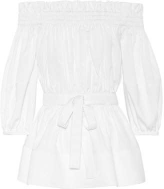 Alexander McQueen Off-the-shoulder cotton top