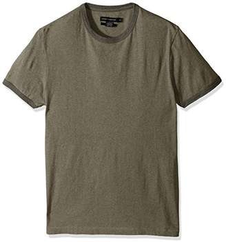 French Connection Men's Ben's Ringer Solid Slim Fit Crewneck T-Shirt