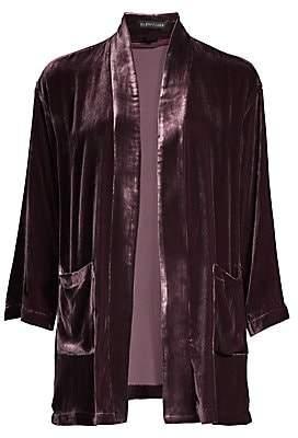 Eileen Fisher Women's Silk Velvet Kimono Jacket