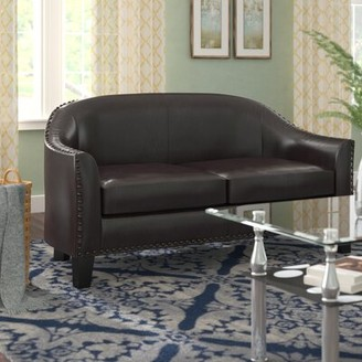 Andover Mills Courtney Banquette Standard Loveseat