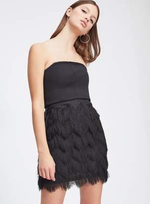 Miss Selfridge Black fringe skirt dress