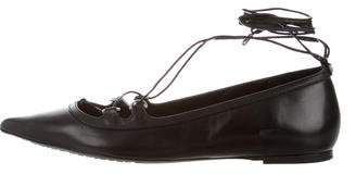 MICHAEL Michael Kors Leather Lace-Up Flats