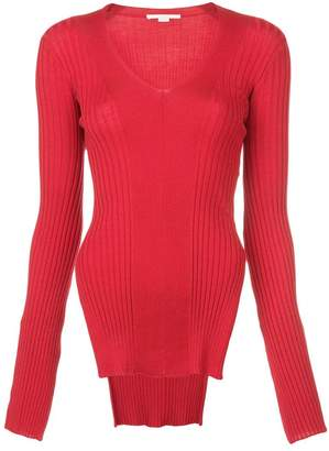 Stella McCartney ribbed knit side slit sweater