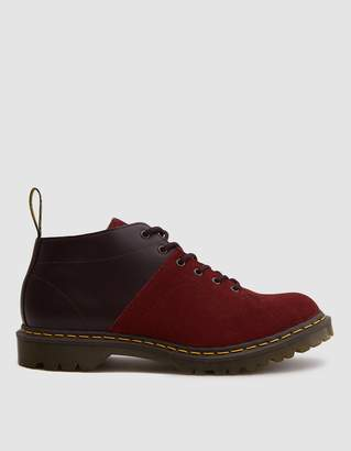 Dr. Martens EG Church Monkey Boot in Oxblood Smooth Leather