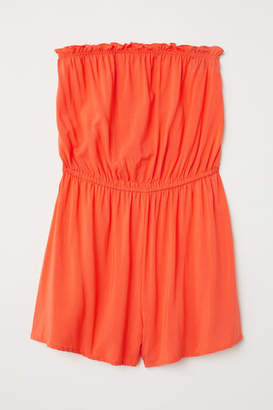 H&M Strapless Jumpsuit - Orange