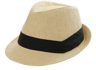 b74448c3c8a at Amazon Canada · Roffatide Men Women Straw Trilby Fedora Hat Summer  Outdoor Sun Visor Hat
