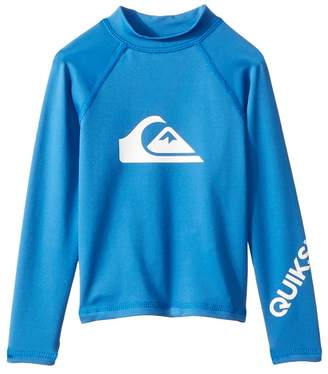Quiksilver All Time Long Sleeve Rashguard Boy's Swimwear
