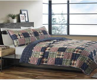 Eddie Bauer Madrona Navy Plaid King Quilt Set Bedding