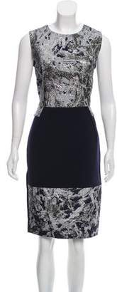 Prabal Gurung Sleeveless Brocade-Trimmed Dress