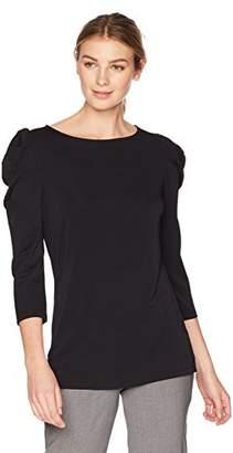 Lark & Ro Women's Ruched Sleeve Top