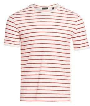 f0aa6d0e50db02 Orange Striped T-shirt Mens - ShopStyle Australia