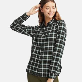 Uniqlo Women's Flannel Checked Long-sleeve Shirt