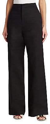 Marni Women's Drill High-Waist Flare Pants