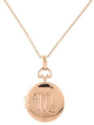 story. My 14K Diamond Locket Scorpio Pendant Necklace rose My 14K Diamond Locket Scorpio Pendant Necklace