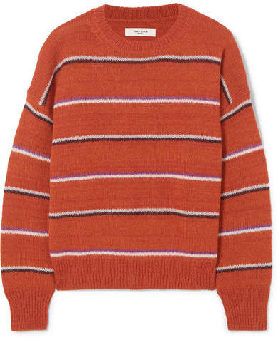 Isabel Marant Étoile - Gatlin Striped Alpaca-blend Sweater - Orange