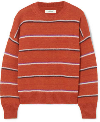 Etoile Isabel Marant Gatlin Striped Alpaca-blend Sweater - Orange