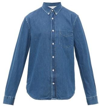 Acne Studios Isherwood Button Down Collar Cotton Chambray Shirt - Mens - Blue