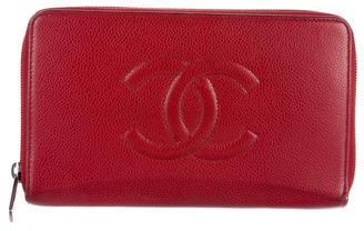 ChanelChanel Timeless Caviar Zip-Around Wallet