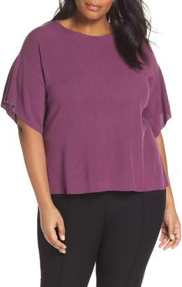 Eileen Fisher Round Neck Tunic Top