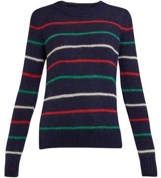 Etoile Isabel Marant Gian Striped Wool Blend Sweater - Womens - Navy Multi