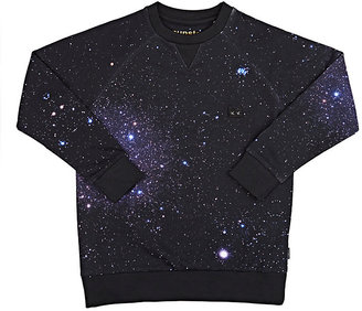 Munster Kids Galaxy Cotton French Terry Sweatshirt-NAVY $43 thestylecure.com
