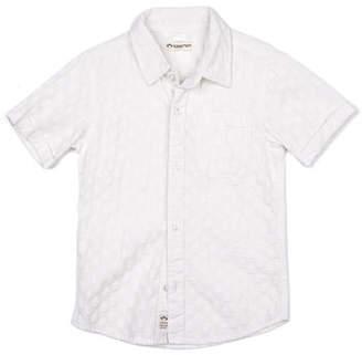 Appaman Short-Sleeve Tonal Pattern Beach Shirt, Size 2-14