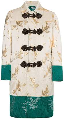 Gucci Jacquard Coat with Dragon Embroidery