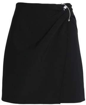 Cushnie et Ochs Wrap-Effect Embellished Crepe Mini Skirt