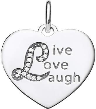 Thomas Sabo Love Bridge Heart Live Love Laugh sterling silver and zirconia pendant
