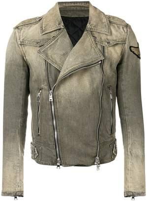 Balmain gradient biker jacket
