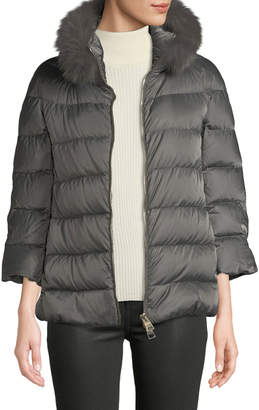 Herno Fur-Collar Down-Fill Puffer Coat
