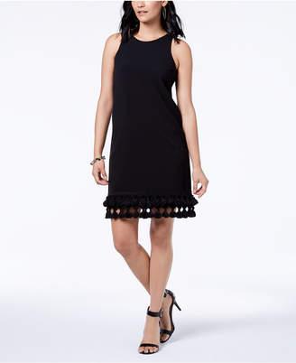 Donna Ricco Sleeveless Tassel-Hem Dress