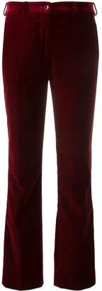 Etro plain velvet trousers