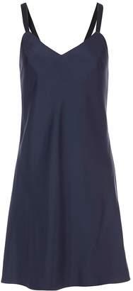 Tibi Mendini Twill Strappy Short Dress