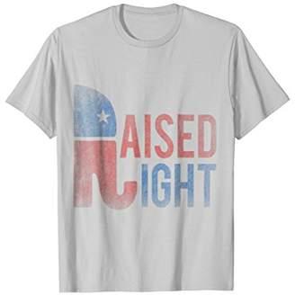 Vintage Raised Right Republican T-Shirt