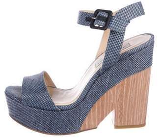Jimmy Choo High-Heel Platform Sandals Blue High-Heel Platform Sandals