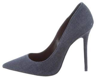Acne Studios Denim Pointed-Toe Pumps