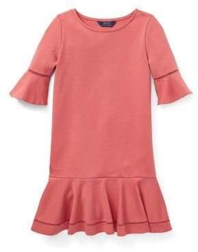 Ralph Lauren Childrenswear Girl's Ponte Inset-Lace Dress