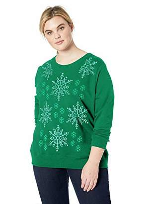 Just My Size Size Women's Ugly Plus Christmas Sweatshirt