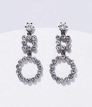 LOFT Crystal Geometric Drop Earrings