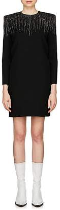 Givenchy Women's Sequin-Embellished Crepe Minidress - Black